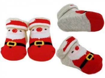 Baby Santa Bootee Socks 0-6 months