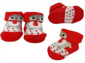 Baby Penguin Bootee Socks